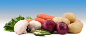 Potatoes, Mushrooms & Vegetables